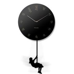 스윙추벽시계_한글(검정)