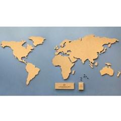 [원더스토어] 럭키스 코르크 세계지도 Corkboard Map
