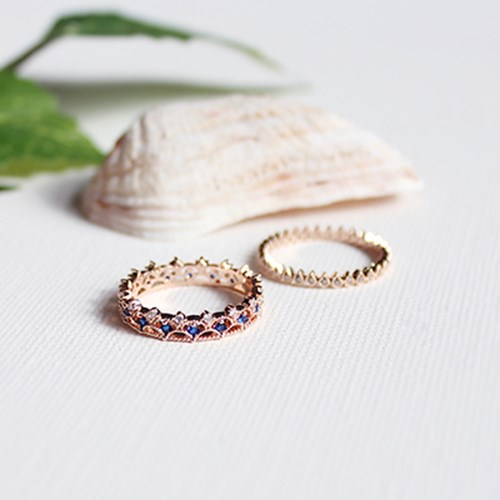 로즈 레이스 반지(2types) rose lace ring set