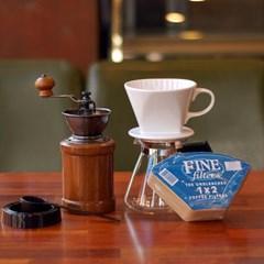 Rlovecoffee커피세콩 핸드드립(도자기드리퍼+필터100장+포트+핸드밀)