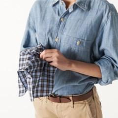 Tartan Plaid Handkerchief (Blue)