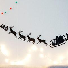 산타썰매 가랜드