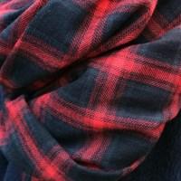 Easy Plaid Muffler (RED)