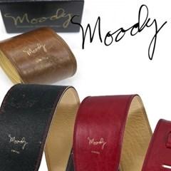 [Moody] Distressed Leather 4.0 Std - Black/Cream - 빈티지 레릭