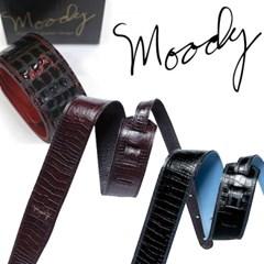 [Moody] Gator Leather 2.5 Std - Black/Cream - 인조 악어가죽