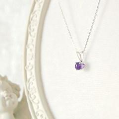 [하우즈쉬나우] 2월의 자수정, mini drop necklace (2월 탄생석)