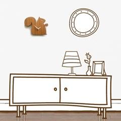 디코이랩(Decoylab) 아기다람쥐 우드 디자인/ 무소음 벽시계