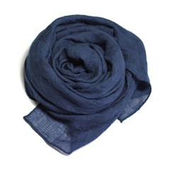 NEW touch solid scarf navy