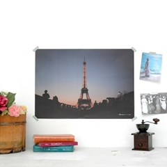 Bonjour PARIS Welcome to LONDON POSTER - A2