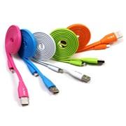 SKY181C 라이트닝 8핀 선꼬임 방지 칼국수 USB 케이블