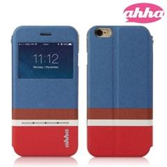 ahha 플립뷰 스와이프 케이스 아이폰6 (블루)