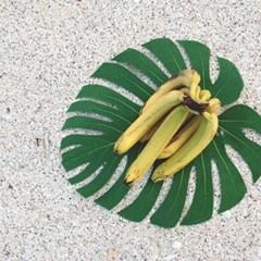 나뭇잎 매트 : palm leaf mat