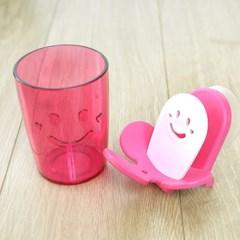 피타 스마일 양치걸이와 컵