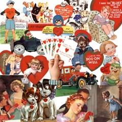 스타일리시한 테마별 빈티지 스티커 - LB-31965 Happy Valentine