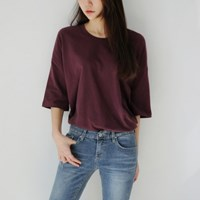 Daily washing loose-fit tee
