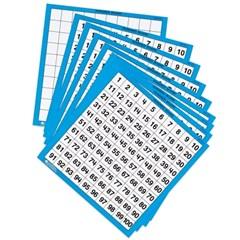 (러닝리소스)LER0375-1 1-100숫자판(코팅지)/수배열판