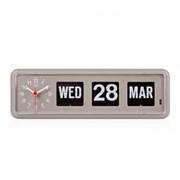BQ-38 TWEMCO Calendar Flip Wall Clock - gray