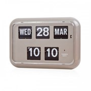 QD-35 TWEMCO Calendar Flip Wall Clock-Gray