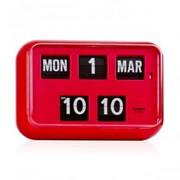 QD-35 TWEMCO Calendar Flip Wall Clock-Red
