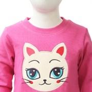 아동 고양이 맨투맨티셔츠 S5SKMT009CT