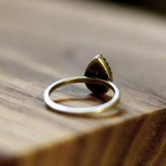 RS-124 물방울 황동이니셜 반지(Brass Initial Ring)