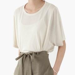 knit half T-shirt (3color)
