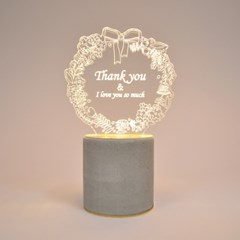 램플로우 땡큐(메세지 주문 제작)