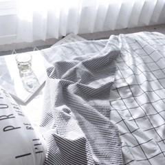 시크 그리드 리플2겹 여름이불 [세트]