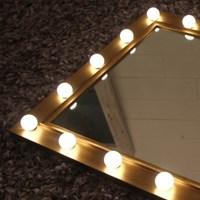 1W LED 룩소골드 조명거울 (Froast type)