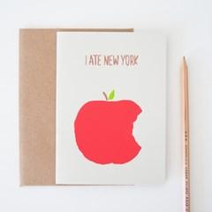 I ATE NY CARD