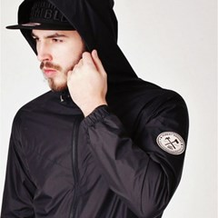 Leaf12 wind breaker BLACK