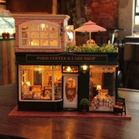 [adico] DIY미니어처 풀하우스 - 파리 커피 케익샵_(379553)