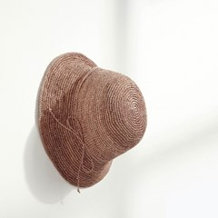 [3color] handmade raffia hat