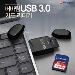 버바팀 USB 3.0 미니 카드 리더기 SD/mSD