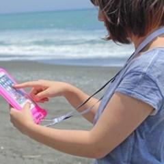 IPX68 스마트폰 방수 케이스 (핑크) [566-842522]