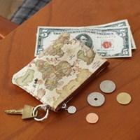 인디맵 패턴 동전지갑