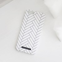 Herringbone Phone case - White