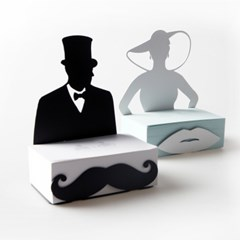 Gentleman&Woman 메모함 Black