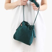 mini bucket bag_deep green