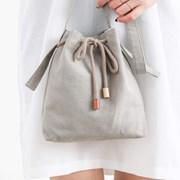 mini bucket bag_greenish gray