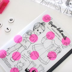 paper doll mate clear pouch.L
