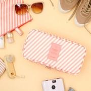 [10x10]PINK STRIPE UNDERWEAR POUCH 여행용 속옷 파우치