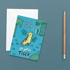 Go Get'em Tiger Card