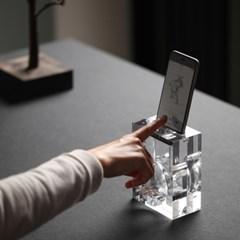 [엘라고] A 핸드폰 스피커 스탠드 [2 Size] / 무전력
