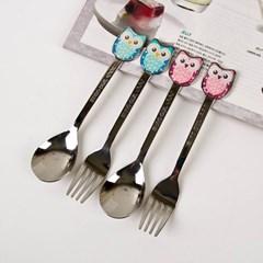 Owl Fork n Spoon (부엉이 포크,스푼) 4P
