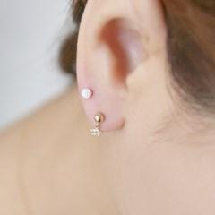 14k gold opal piercing Small