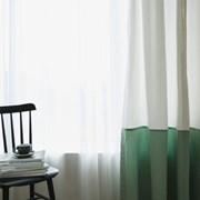 데미안-피그먼트 면커튼(화이트민트)