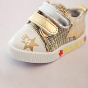 스타 금색 은색 밸크로 유아신발(125-145mm) F801_(901957514)