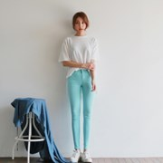 Pastel color cool skinny