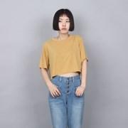 [쿠치마치] 치즈 크롭탑 (5color)